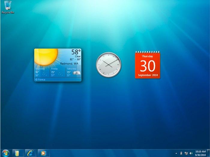 гаджеты температуры на рабочий стол windows 7